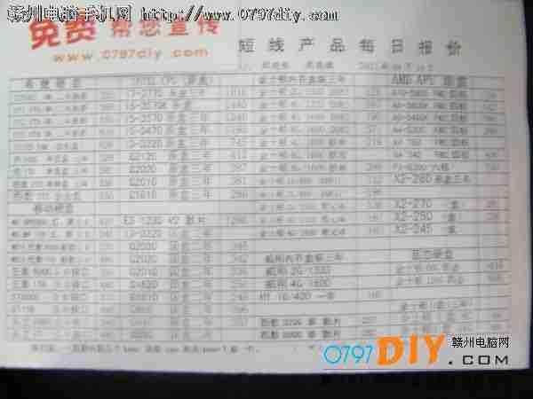 内存报价_CPU 硬盘 内存-赣州手机电脑网|赣州天虹数码