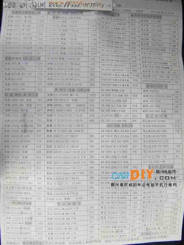 2013年8月20日亿客隆彩票网站盛威CPU 硬盘 内存报价